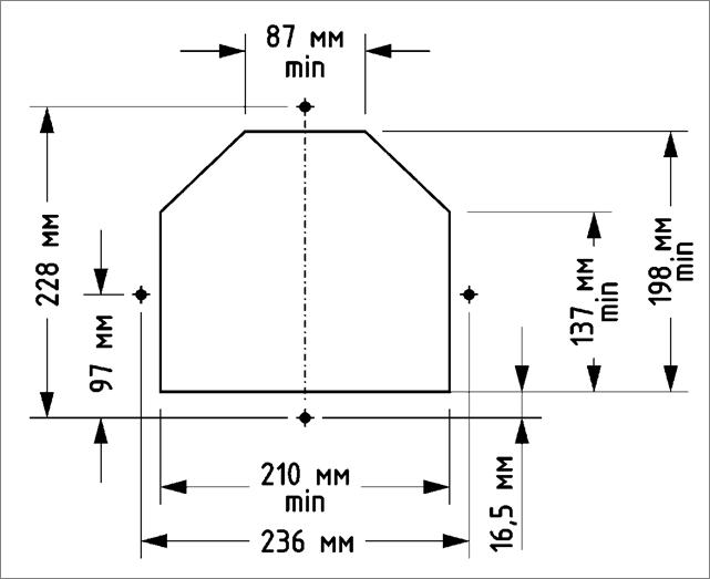 Размеры горелок OXI