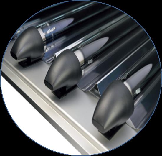 Вакуумная трубка Paradigma с Новым плазменным напылением для еще большей эффективности.