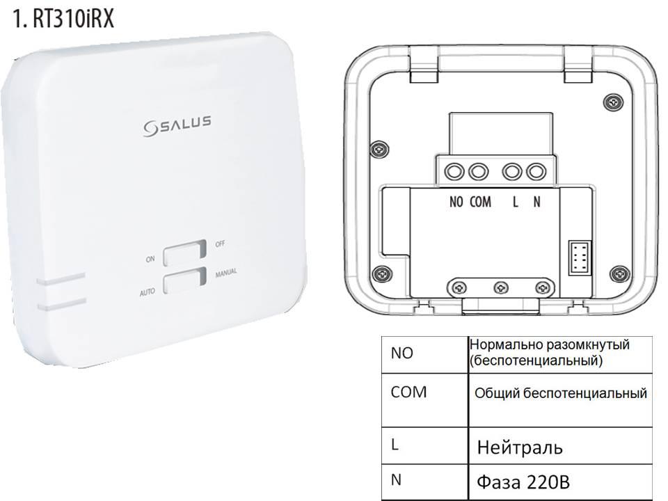 Приемник термостата SALUS RT310i.