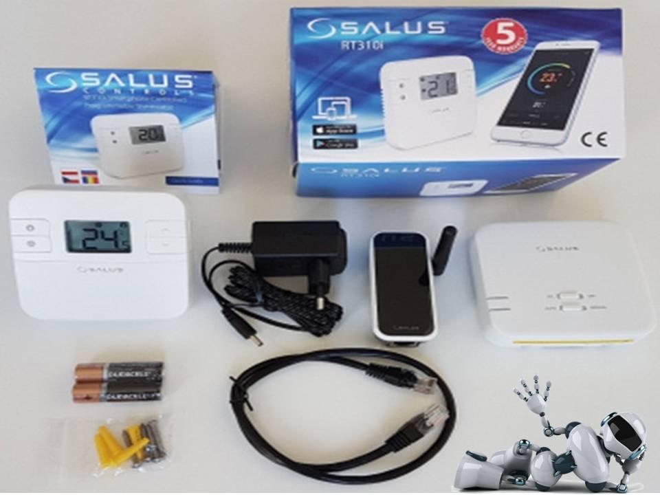 Программируемый термостат управляемый через интернет - RT310i от SALUS, комплект поставки.