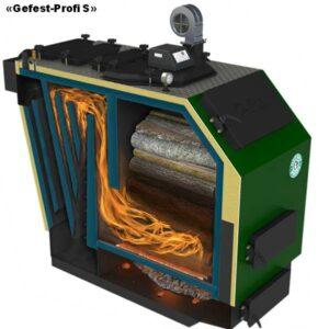 «Gefest-Profi U» Котлы верхнего горения с подачей вторичного воздуха. вид в разрезе