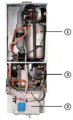 Газовый, Конденсационный, котел,BOSCH,Condens 3000 W,устройство.
