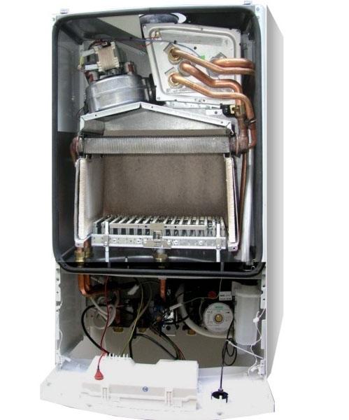 Газовый конденсационный котел ,BOSCH,Condens 2000 W,внутри.