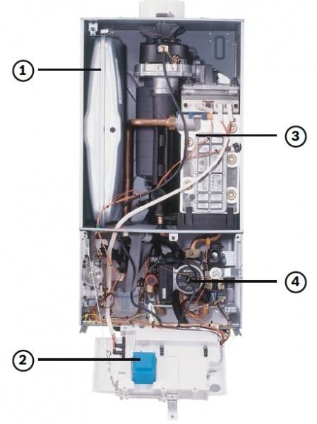 Схема,Газового Конденсационного котла,BOSCH. Condens 7000 W.