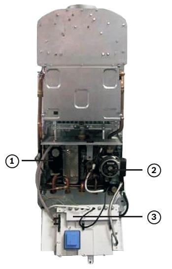 Схема газового котла,Bosch ,Gaz 7000 W ,дноконтурный с открытой камерой сгорания
