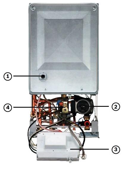 Схема, газовый котел, Bosch Gaz 4000 W.
