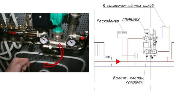 Насосно-смесительный узел VALTEC COMBIMIX-20