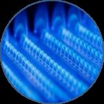 Сравнение расхода природного газа и пелллет