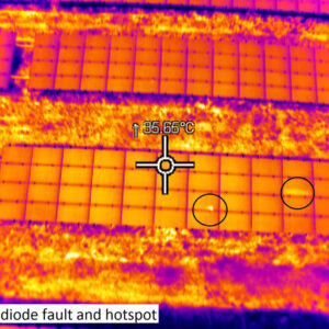 солнечная батарея,съемка тепловизором 10