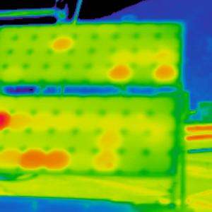 солнечная батарея,съемка тепловизором 2