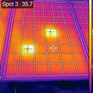 солнечная батарея,съемка тепловизором 3