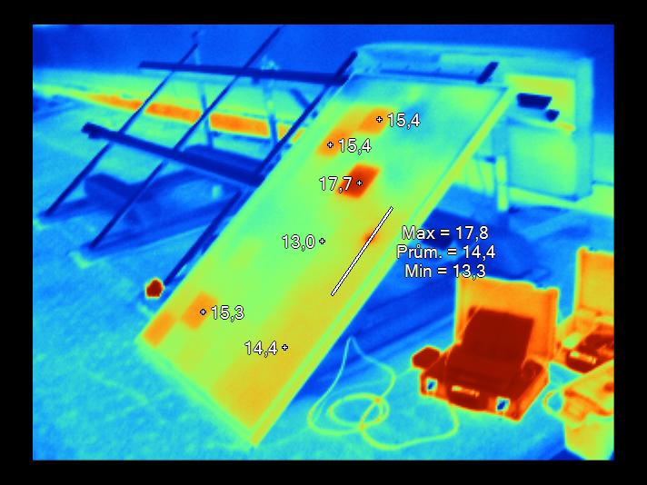 солнечная батарея,съемка тепловизором 4