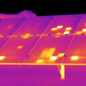 солнечная батарея,съемка тепловизором 5
