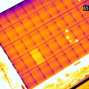 солнечная батарея,съемка тепловизором 6