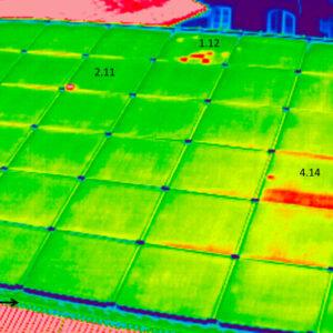 солнечная батарея,съемка тепловизором 7