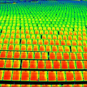 солнечная батарея,съемка тепловизором 9