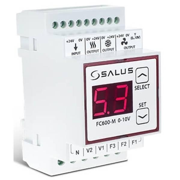 FC600-M 0-10V,SALUS.Модуль регулятора FC600, предназначен для факойлов и климаконвекторов