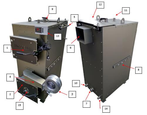 Описание устройства Пиролизного котла DM-STELLA