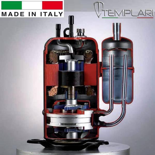 2х ступенчатые роторный компрессор,Тепловой насос, Templari, Kita