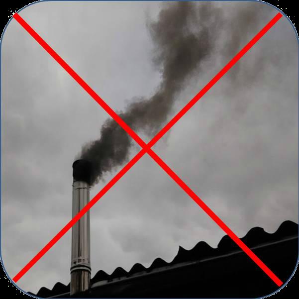 Дымоход с черным дымом