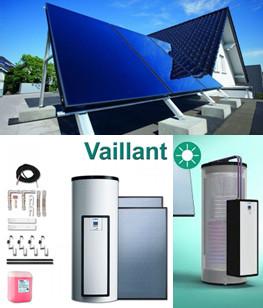 Незакипающие солнечные системы для приготовления горячей воды Vaillant auroSTEP